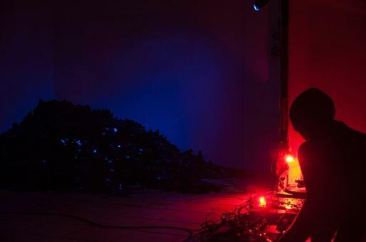 "Performance ""The dark return of the Lyrebird"" Dunkle Energie, 2013, Westgermany, Berlin"