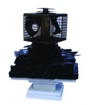 Recorder 2012, Video- & Audiokassetten, Holz, Lack, 43 x 34 x 25 cm