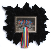 Euphoria 2012, Papier, Vinyl, Holz 40 x 44 x 2 cm