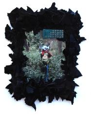 Waldkonfusion 2012, Papier, Vinyl, Platine, Holz 38 x 28 x 2 cm