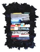 Teststreifen 2012, Papier, Vinyl, Holz 49 x 37 x 2 cm