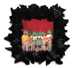 Hi Freaks 2012, Papier, Vinyl, Holz 35 x 38 x 2 cm