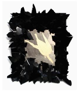 Styx 2008, Papier, Vinyl, Holz 53 x 44 x 2 cm