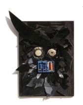 Kling Klang 2008, Plastik, Vinyl, Holz 21 x 15 x 2 cm