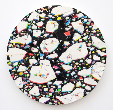 Disko Drifta Remix 2020, vinyl on aludibond, 59 x 59 cm
