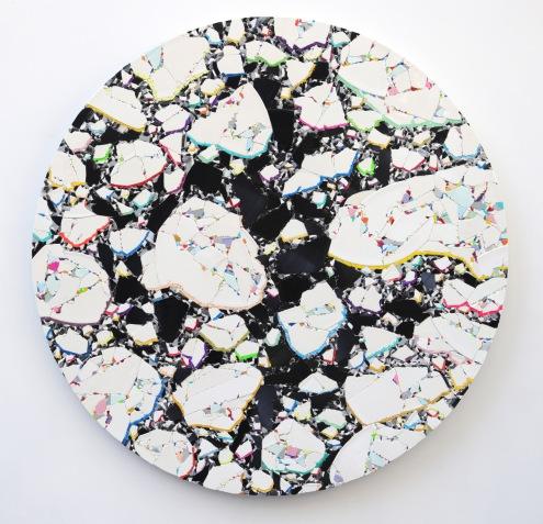 Drift 2020, vinyl, aludibond, 83 x 83 cm