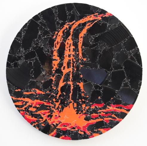 Lava Fall 2019, vinyl, aludibond, 41 x 41 cm