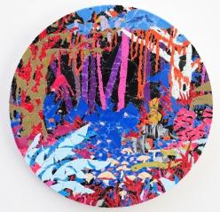 Mystery of the sacred idol 2019, vinyl on aludibond, 41,5 x 41,5 cm