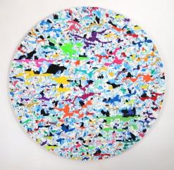 Fruchteisparty auf dem Säureminengletscher 2019, vinyl, aludibond, 148 x 148 cm