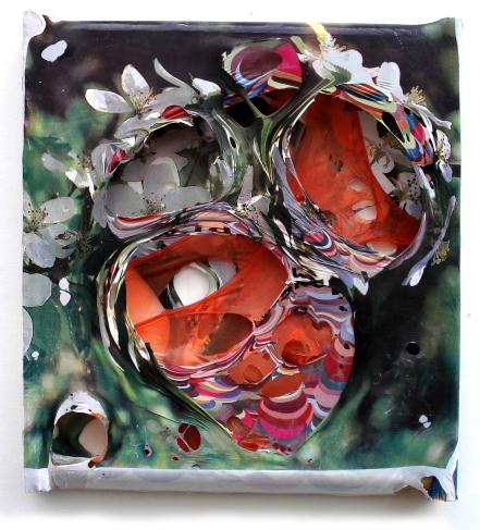 Nektar 2009, Polyethylen auf Holzrahmen, 38 x 33 x 4 cm