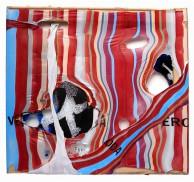 Ampelmann 2009, Polyethylen auf Keilrahmen, 50 x 54 x 2 cm