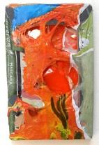 Mascarakaktus 2008, Polyethylen auf Keilrahmen, 25 x 16 x 4 cm