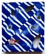 Mein erster Fruhtrunk 2010, Polyethylen auf Keilrahmen, 41 x 35,5 x 5 cm