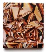 Mein erster Reyle 2010, Polyethylen auf Keilrahmen, 41,5 x 37,5 x 2 cm