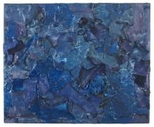 Mein erster Ives Klein 2010, Polyethylen & Schwamm auf Keilrahmen, 68 x 88 x 4,5 cm