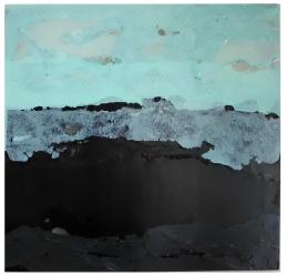 Nebelberg 2014, Polyethylen auf Keilrahmen, 92 x 94 x 2 cm
