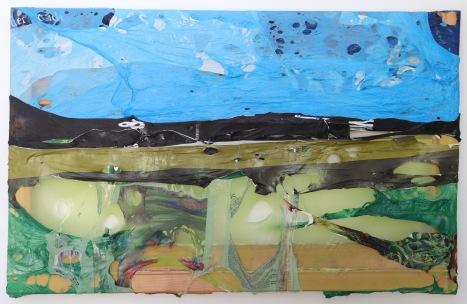 & 2011, Polyethylen auf Keilrahmen, 57 x 91 x 3 cm